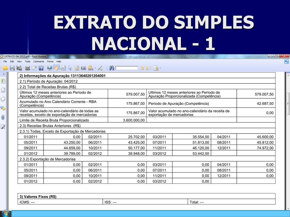 EXTRATO DO SIMPLES NACIONAL - 1 24