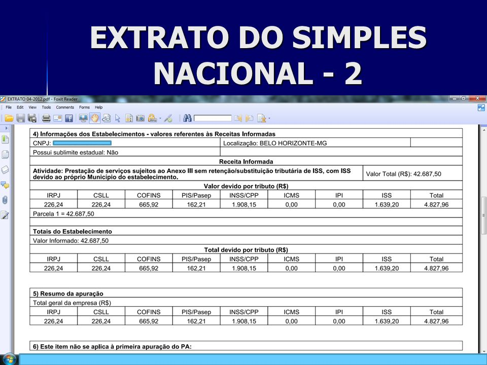 EXTRATO DO SIMPLES NACIONAL - 2 25