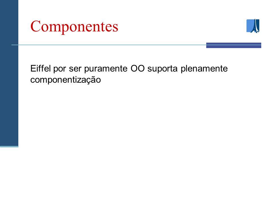 Componentes Eiffel por ser puramente OO suporta plenamente componentização