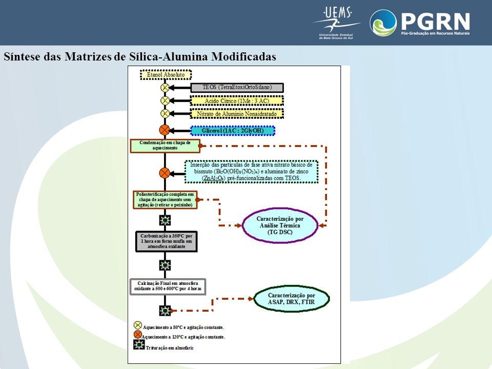 Síntese das Matrizes de Sílica-Alumina Modificadas