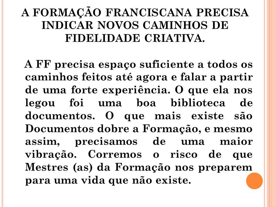Nesta realidade a FF deve cuidar de salvaguardar a Criação; participar na transformação do mundo.