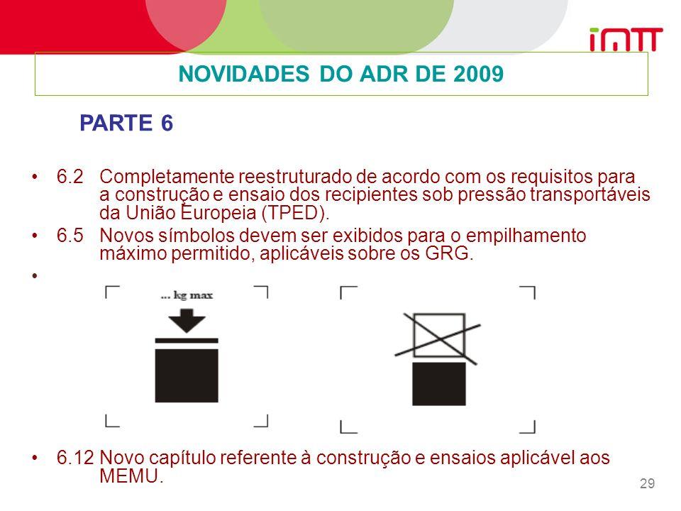 29 6.2 Completamente reestruturado de acordo com os requisitos para a construção e ensaio dos recipientes sob pressão transportáveis da União Europeia (TPED).