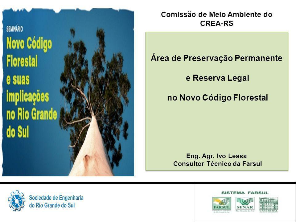 Área de Preservação Permanente e Reserva Legal no Novo Código Florestal Eng.