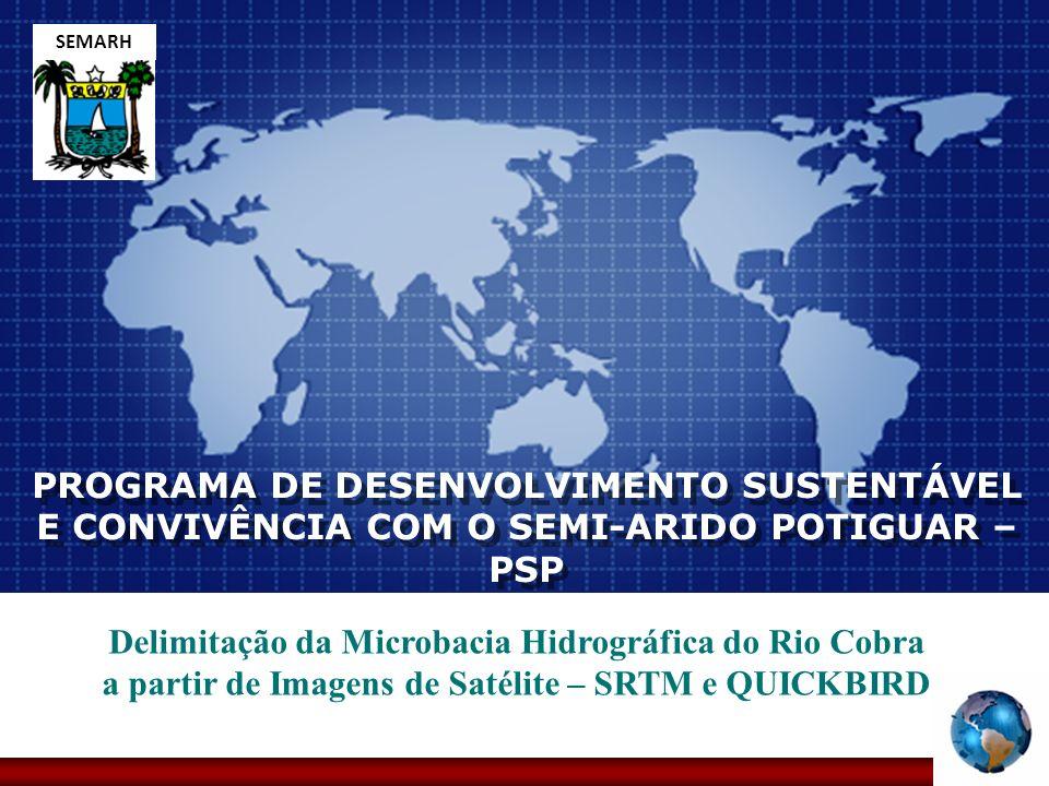 Company LOGO PROGRAMA DE DESENVOLVIMENTO SUSTENTÁVEL E CONVIVÊNCIA COM O SEMI-ARIDO POTIGUAR – PSP Delimitação da Microbacia Hidrográfica do Rio Cobra