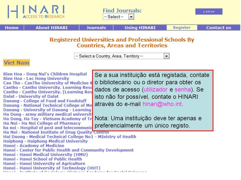 ` Esta é uma das páginas do perfil da instituição à qual não terá acesso.
