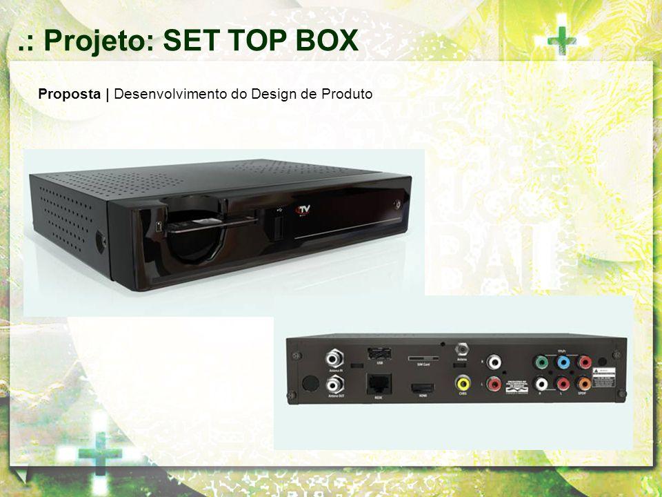 Proposta | Desenvolvimento do Design de Produto.: Projeto: SET TOP BOX