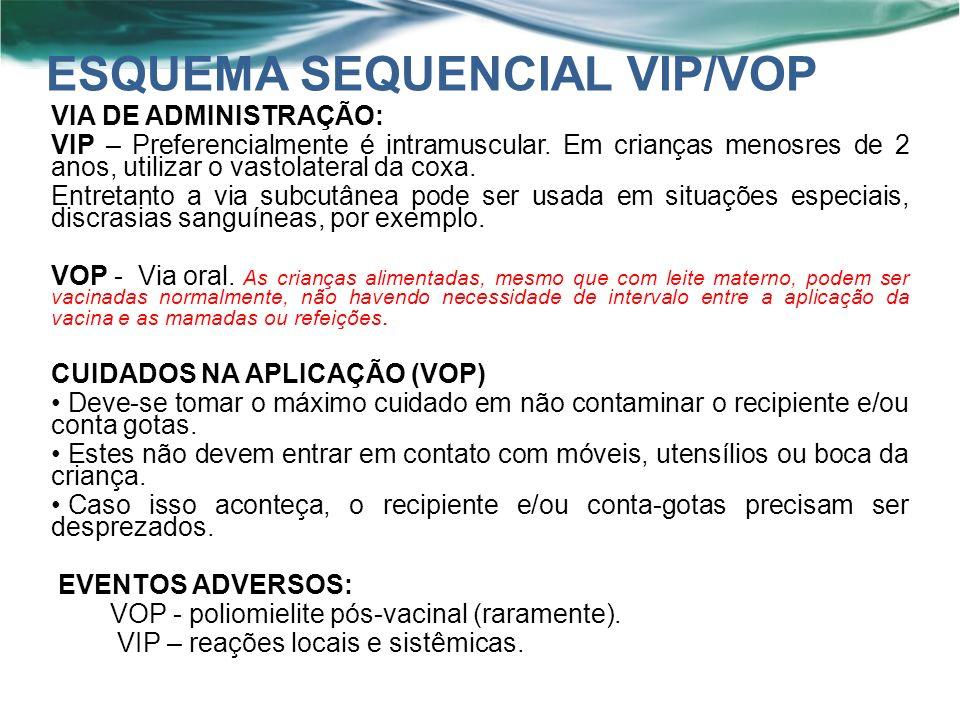 VIA DE ADMINISTRAÇÃO: VIP – Preferencialmente é intramuscular.