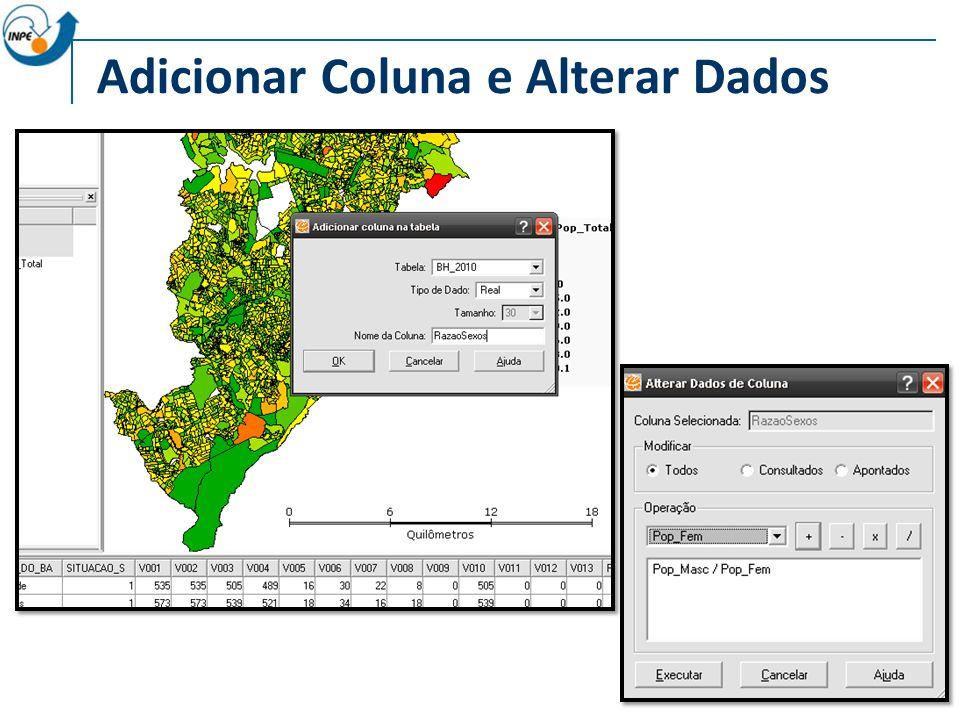 Adicionar Coluna e Alterar Dados