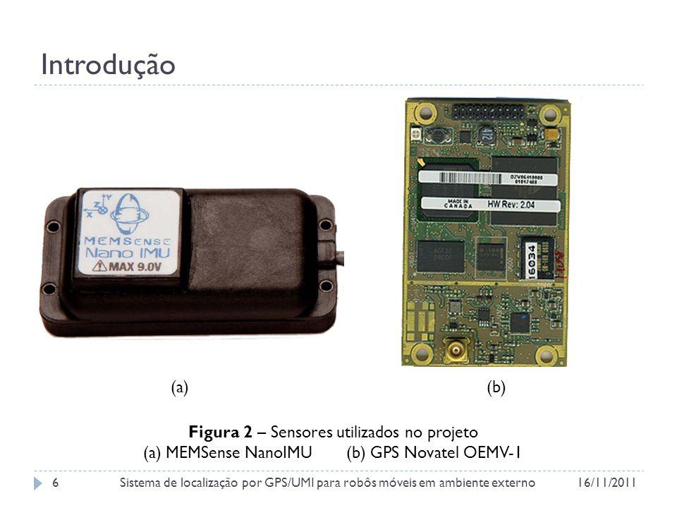 Estado atual do projeto Figura 11 – Placa fabricada no SeedStudio 16/11/2011Sistema de localização por GPS/UMI para robôs móveis em ambiente externo17
