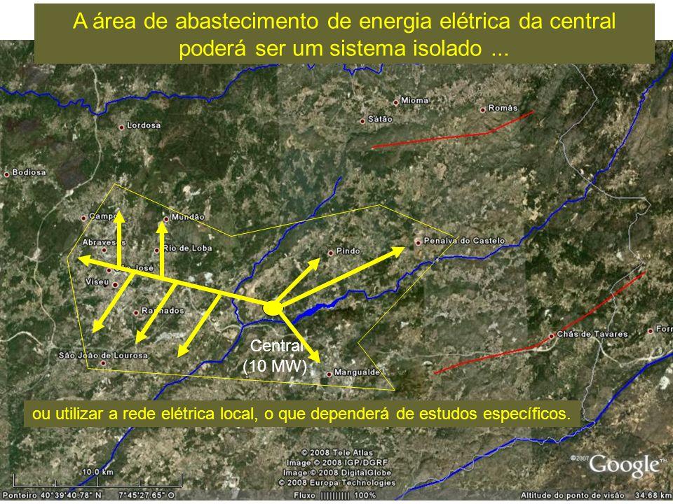 Central (10 MW) A área de abastecimento de energia elétrica da central poderá ser um sistema isolado...