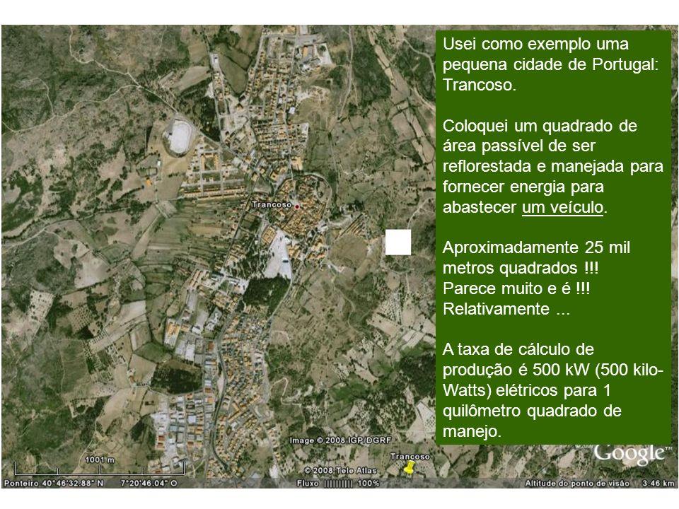 Usei como exemplo uma pequena cidade de Portugal: Trancoso.