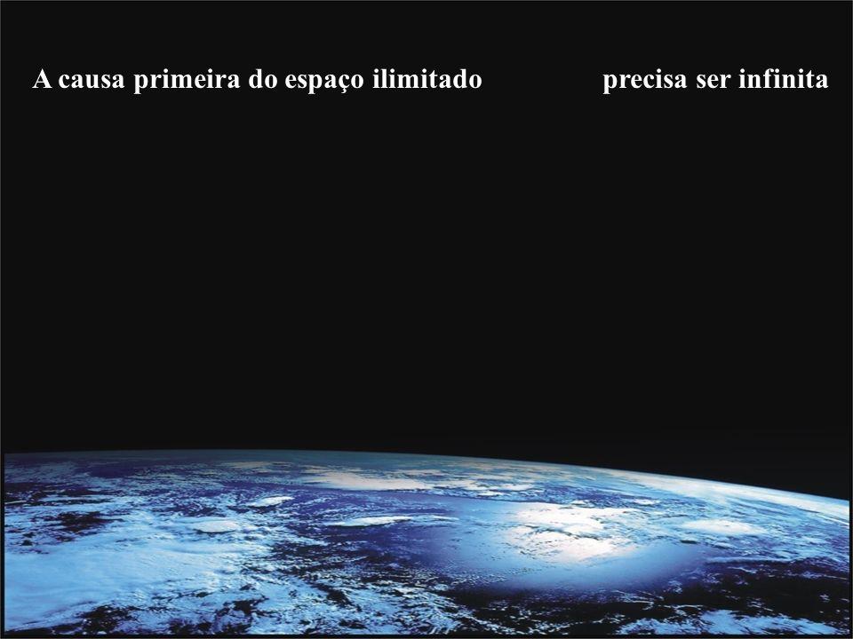 A causa primeira do espaço ilimitado precisa ser infinita