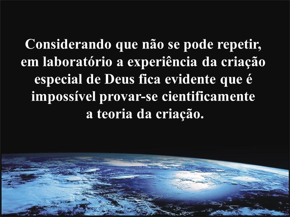 O criacionista é categórico nesta questão, e responde sem rodeios que Deus é a causa de tudo.