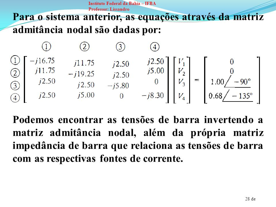 29 de Instituto Federal da Bahia – IFBA Professor: Lissandro Z bus