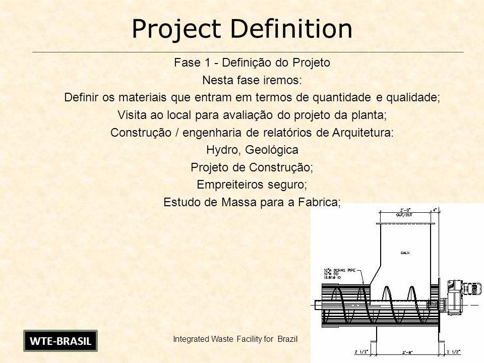 11 Project Definition Fase 1 - Definição do Projeto Nesta fase iremos: Definir os materiais que entram em termos de quantidade e qualidade; Visita ao