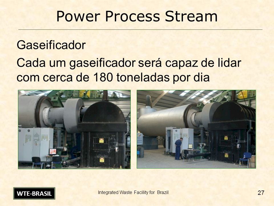 Integrated Waste Facility for Brazil 28 Power Process Stream Boiler WTE-BRASIL