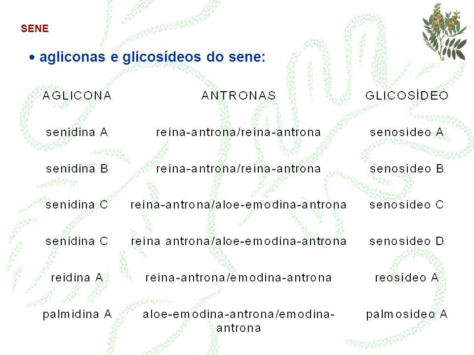 SENE agliconas e glicosídeos do sene: