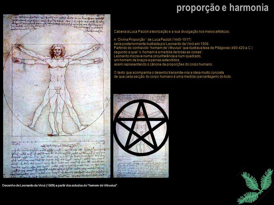 Caberia a Luca Pacioli a teorização e a sua divulgação nos meios artísticos. A Divina Proporção de Luca Pacioli (1445-1517) seria posteriormente ilust