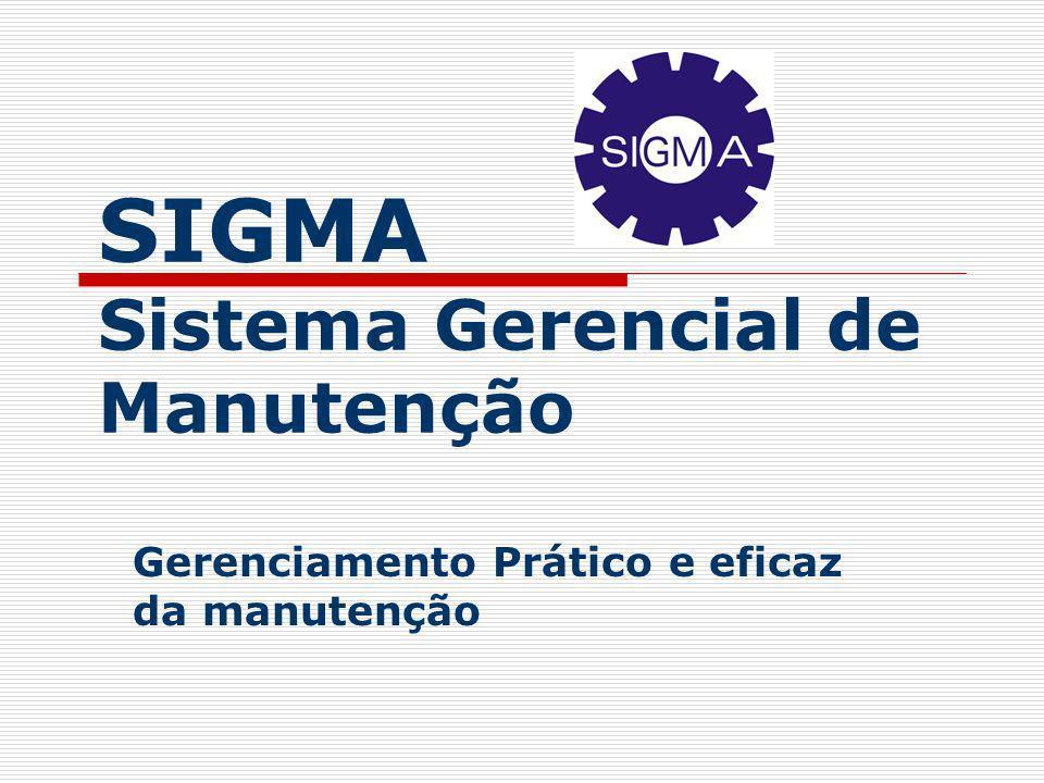 SIGMA Sistema Gerencial de Manutenção Gerenciamento Prático e eficaz da manutenção