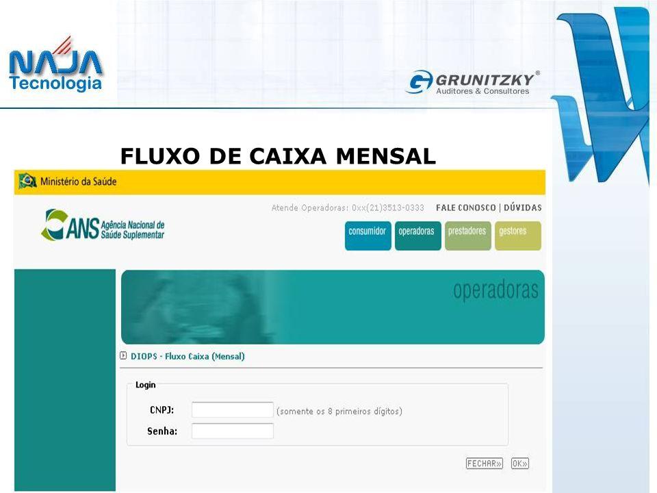FLUXO DE CAIXA MENSAL
