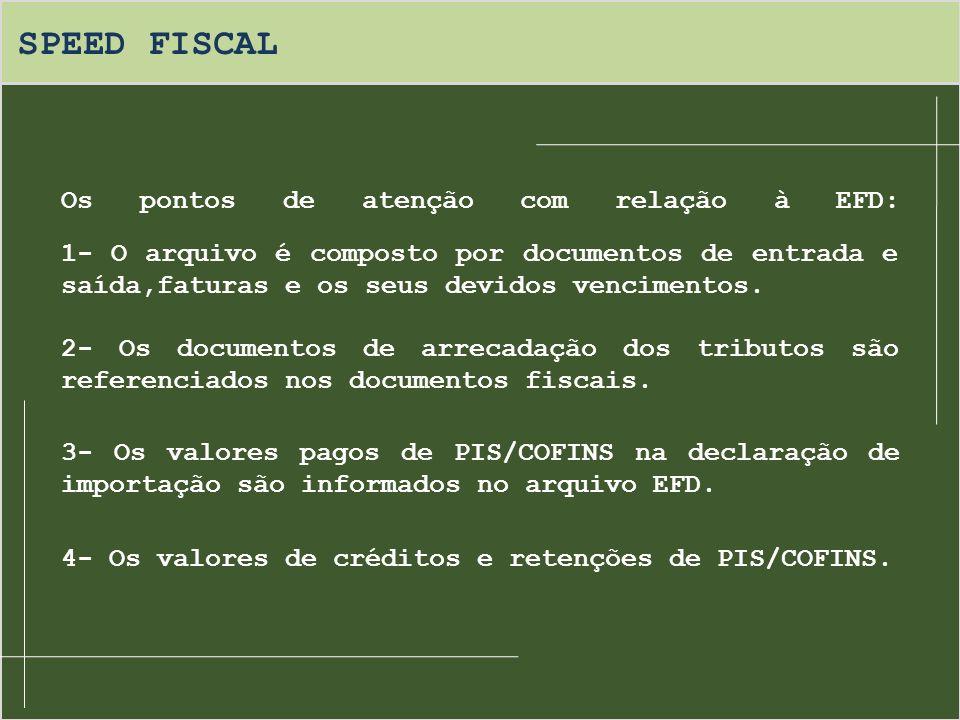 SPEED FISCAL Em 2009 será dispensado: O envio do Sintegra; A impressão do Livro de Apuração de ICMS; A impressão do Livro Registro de Entradas; A impressão do Livro Registro de Saídas.