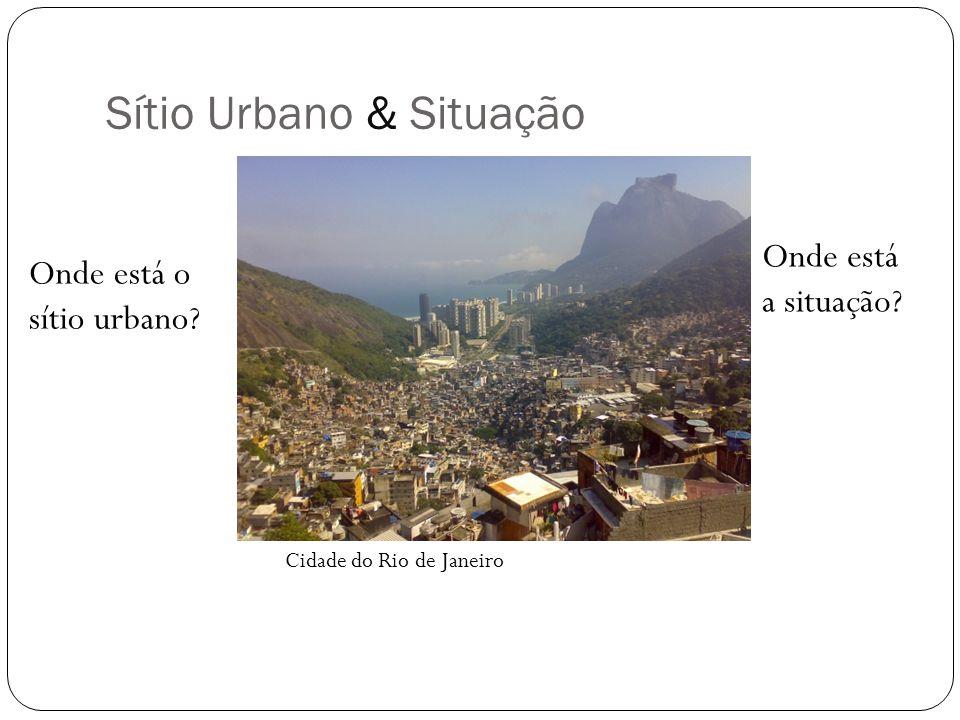 Sítio Urbano & Situação Onde está o sítio urbano? Onde está a situação? Cidade do Rio de Janeiro