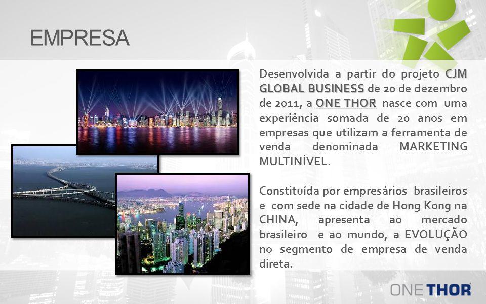 EMPRESA CJM GLOBAL BUSINESS ONE THOR Desenvolvida a partir do projeto CJM GLOBAL BUSINESS de 20 de dezembro de 2011, a ONE THOR nasce com uma experiên