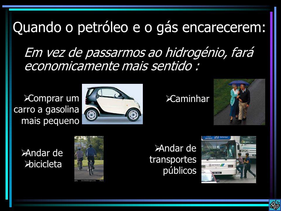 Quando o petróleo e o gás encarecerem: Em vez de passarmos ao hidrogénio, fará economicamente mais sentido : Comprar um carro a gasolina mais pequeno