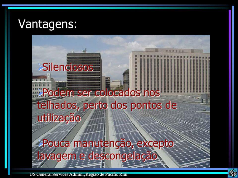 Vantagens: Silenciosos Silenciosos Podem ser colocados nos telhados, perto dos pontos de utilização Podem ser colocados nos telhados, perto dos pontos