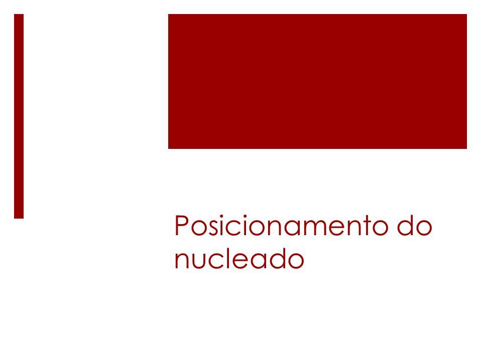 Posicionamento do nucleado