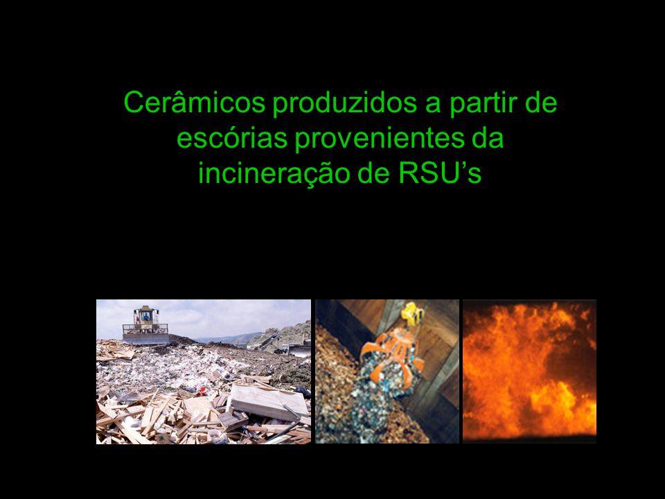 Cerâmicos produzidos a partir de escórias provenientes da incineração de RSUs