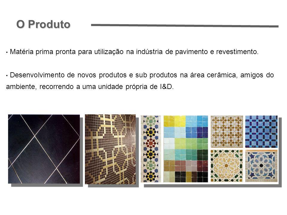 Matéria prima pronta para utilização na indústria de pavimento e revestimento. Desenvolvimento de novos produtos e sub produtos na área cerâmica, amig