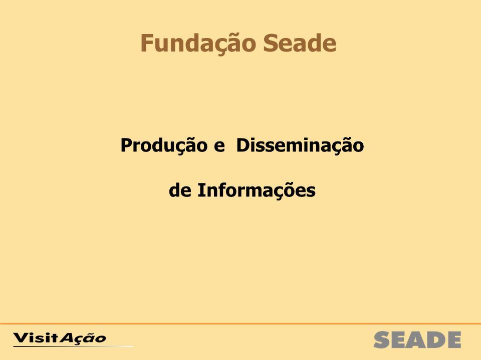 Produção e Disseminação de Informações Fundação Seade