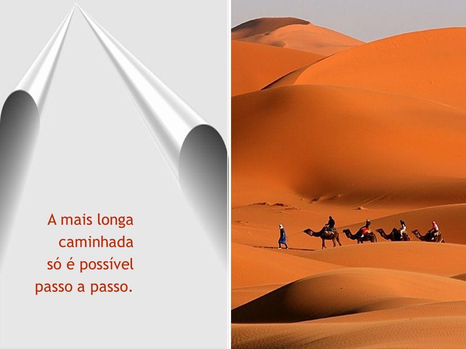 A mais longa caminhada só é possível passo a passo.