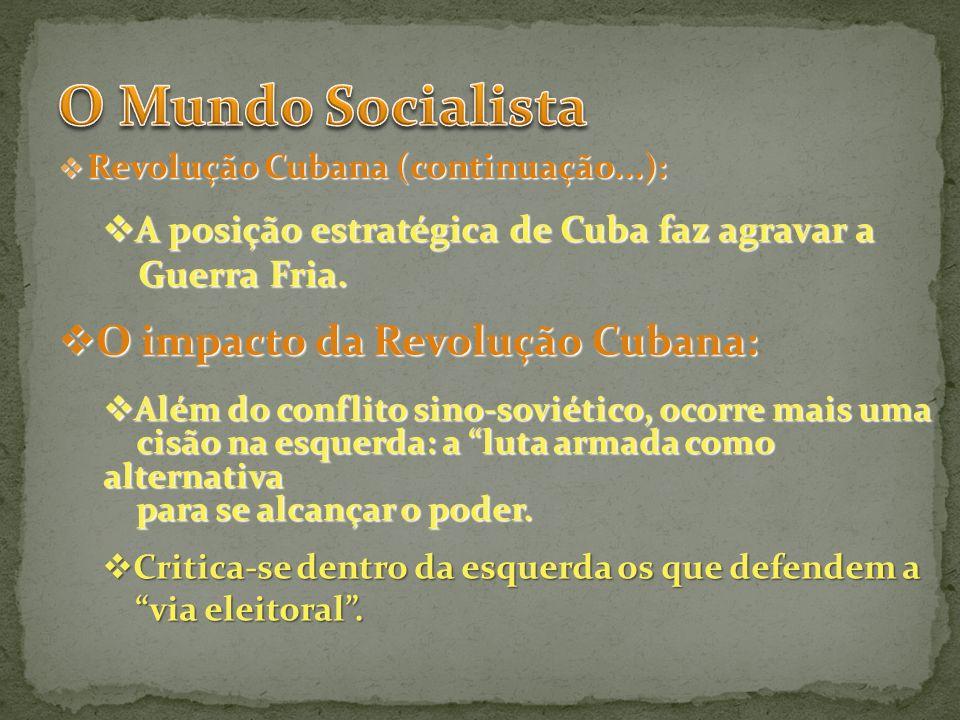 Revolução Cubana (continuação...): Revolução Cubana (continuação...): A posição estratégica de Cuba faz agravar a A posição estratégica de Cuba faz ag