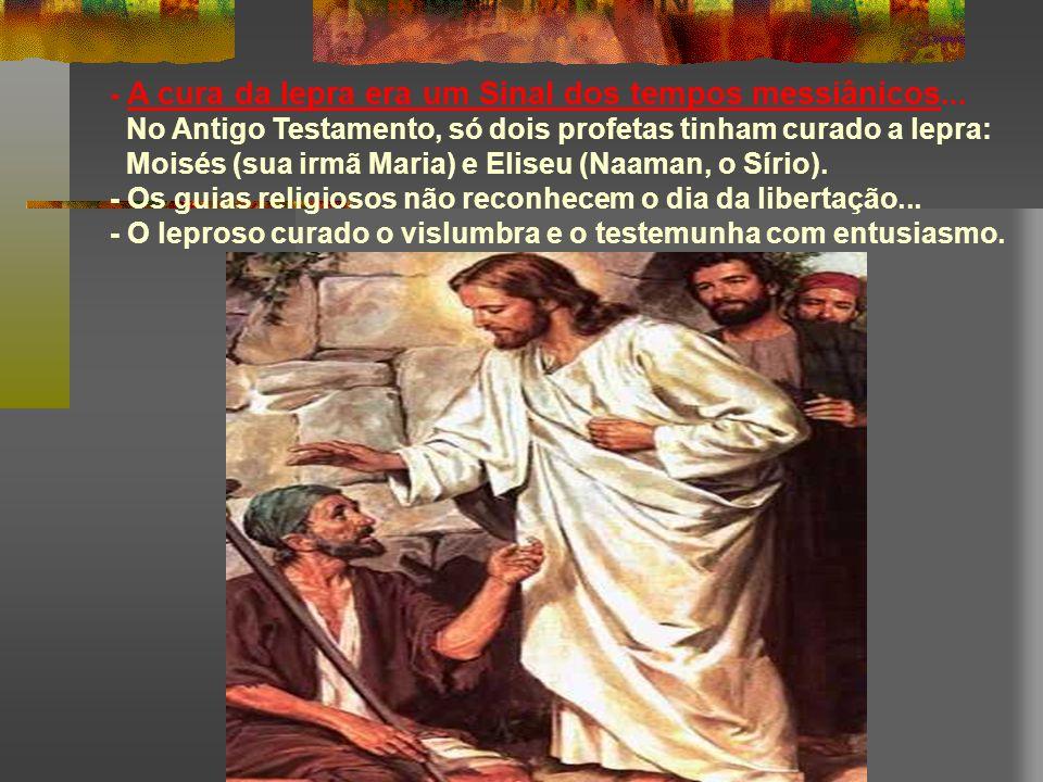 + Jesus não se afastou dos leprosos... Aproxima-se deles, porque vê neles um filho de Deus. * Qual é a nossa atitude para com eles? Nossos preconceito