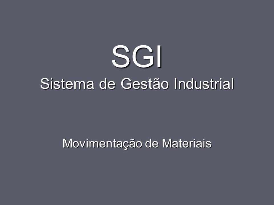 SGI Sistema de Gestão Industrial Movimentação de Materiais