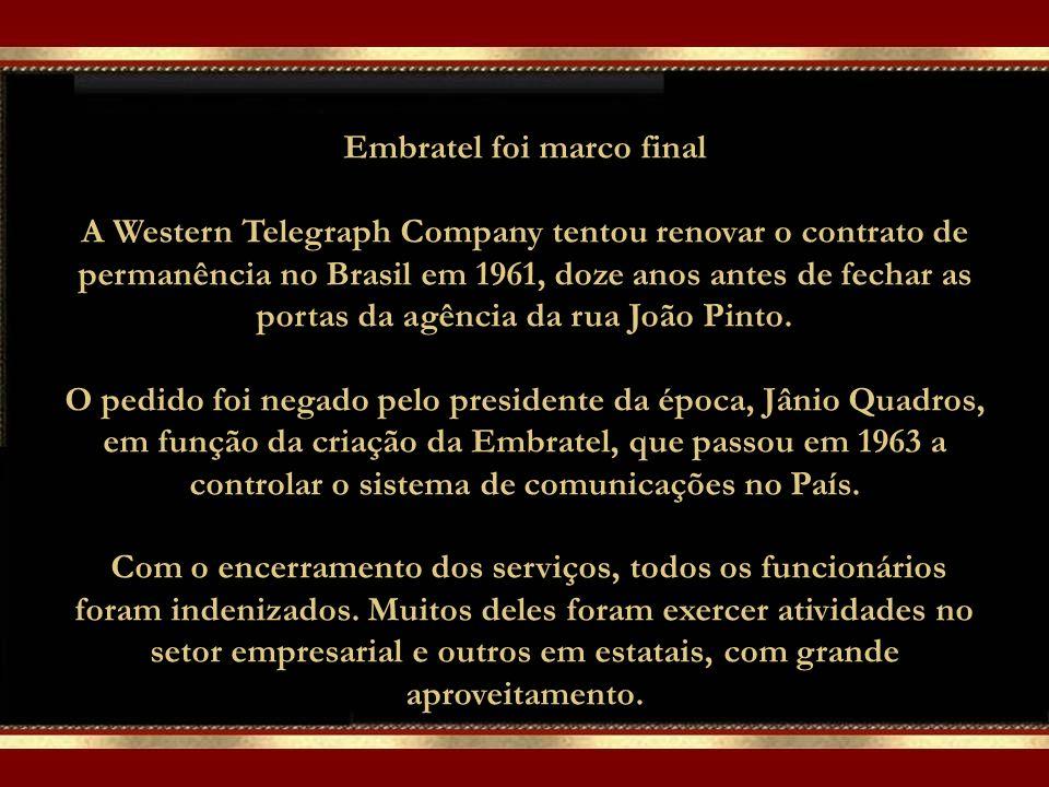 O Gerente Geral de cada estação também acumulava as funções de Cônsul Britânico. As Bandeiras do Brasil e do Reino Unido eram diariamente hasteadas.
