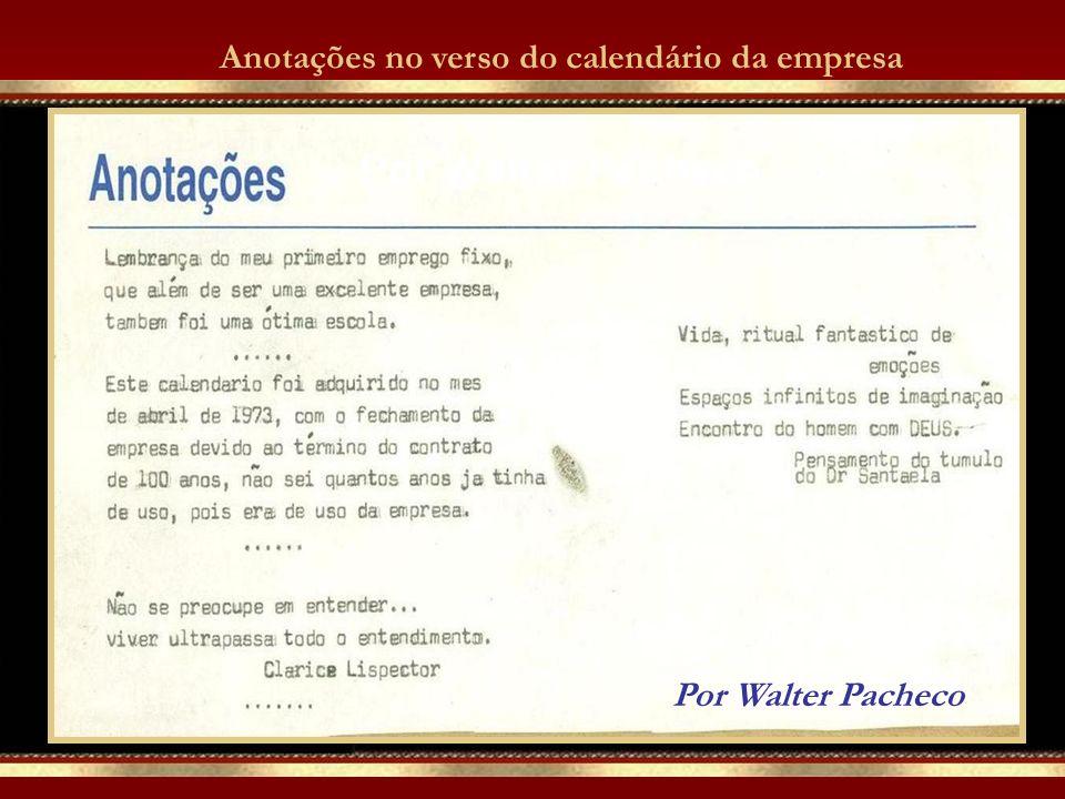 Acervo Walter Pacheco Calendário usado pela Estação Florianópolis