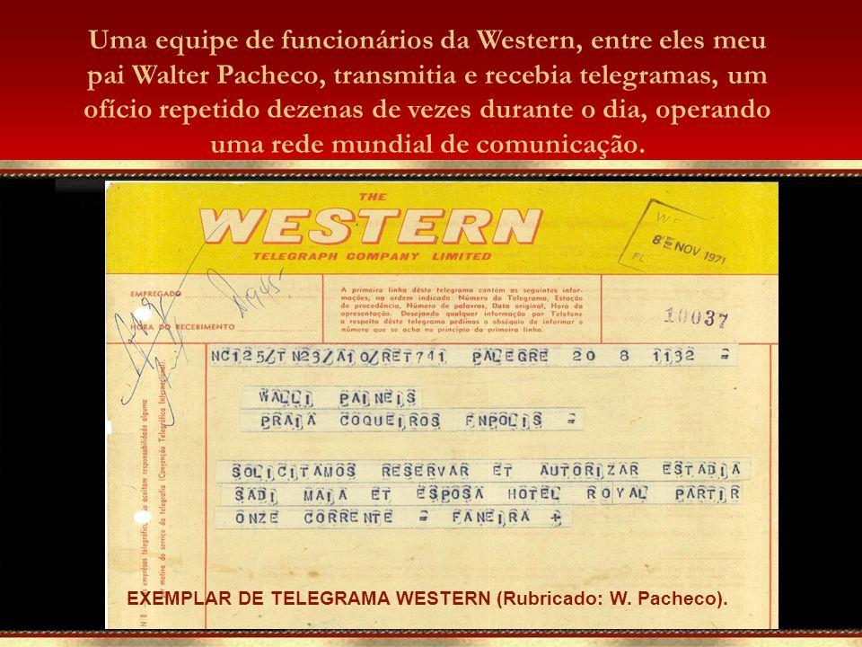A comunicação via cabo submarino era eficiente e, como poucas pessoas possuíam aparelhos telefônicos na cidade, havia uma preferência na utilização do