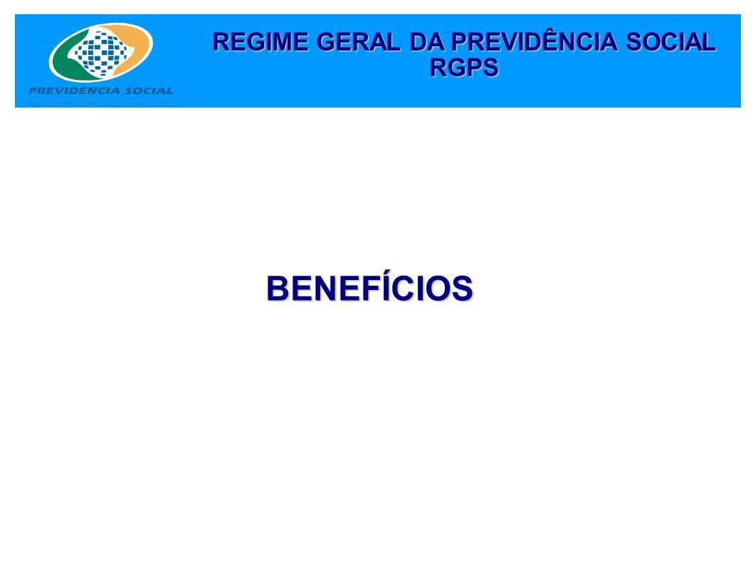 BENEFÍCIOS REGIME GERAL DA PREVIDÊNCIA SOCIAL RGPS