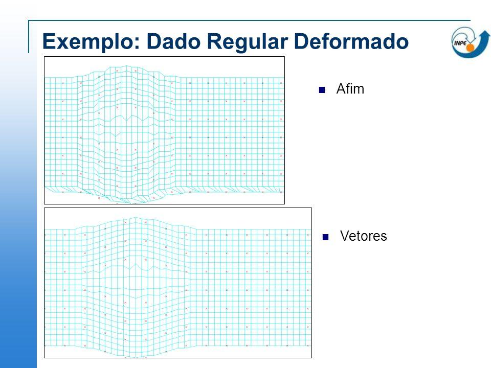 Exemplo: Dado Regular Deformado Afim Vetores