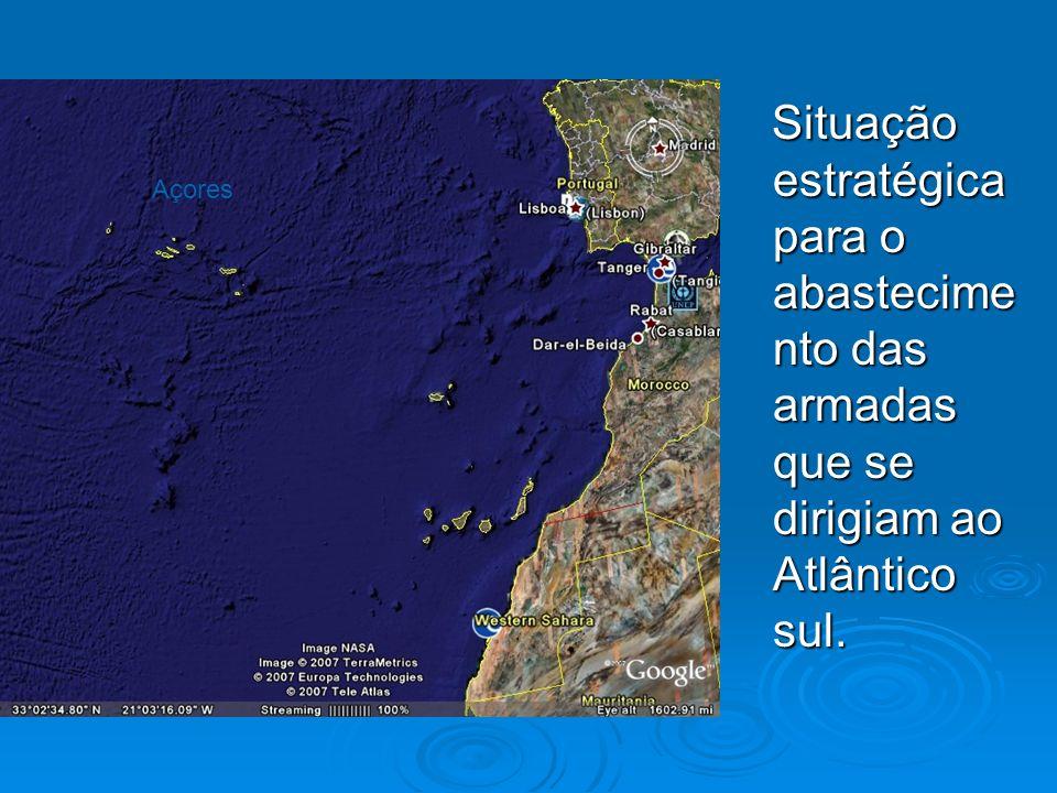Situação estratégica para o abastecime nto das armadas que se dirigiam ao Atlântico sul. Situação estratégica para o abastecime nto das armadas que se