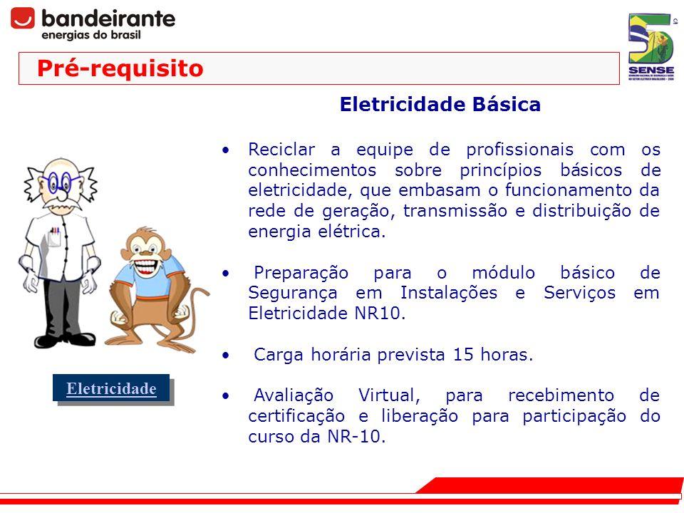 Eletricidade Básica Reciclar a equipe de profissionais com os conhecimentos sobre princípios básicos de eletricidade, que embasam o funcionamento da r