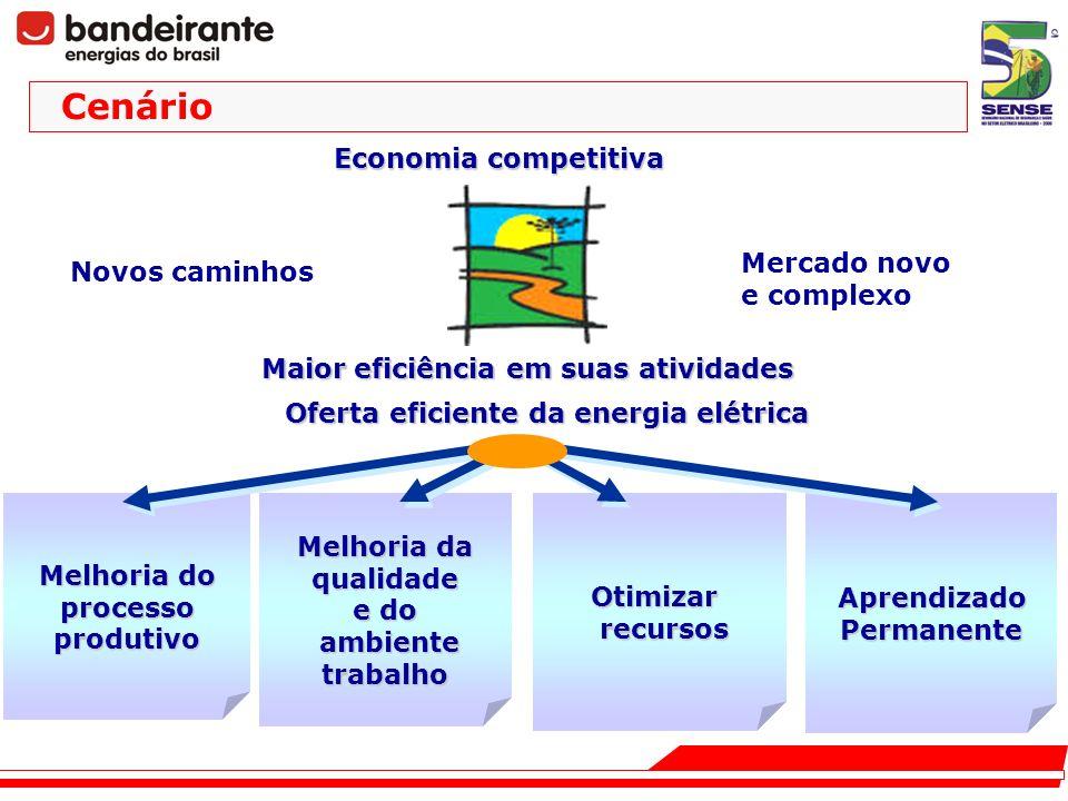 Melhoria da qualidade e do ambiente ambientetrabalho Maior eficiência em suas atividades Oferta eficiente da energia elétrica AprendizadoPermanente Ot