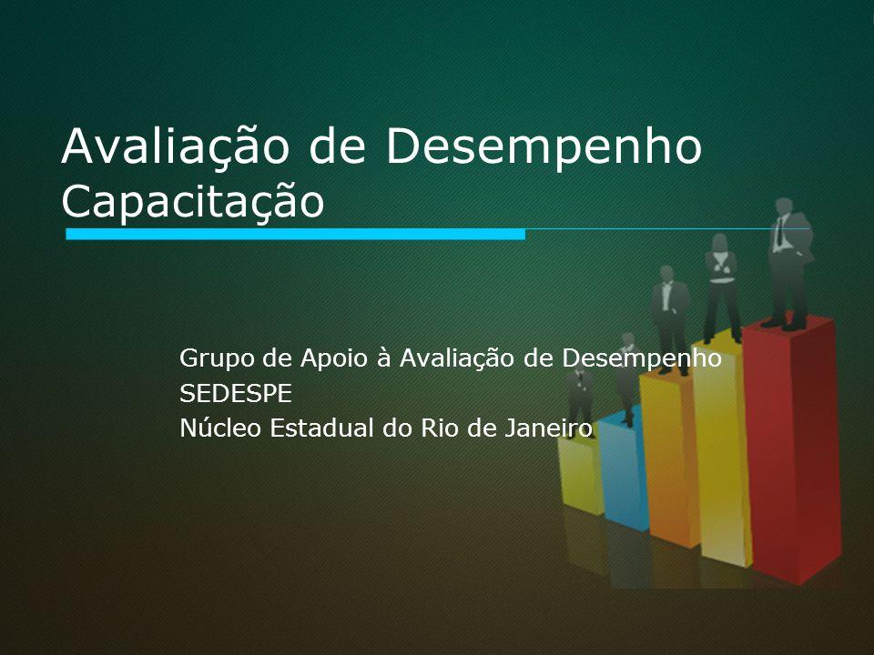 Avaliação de Desempenho Capacitação Grupo de Apoio à Avaliação de Desempenho SEDESPE Núcleo Estadual do Rio de Janeiro