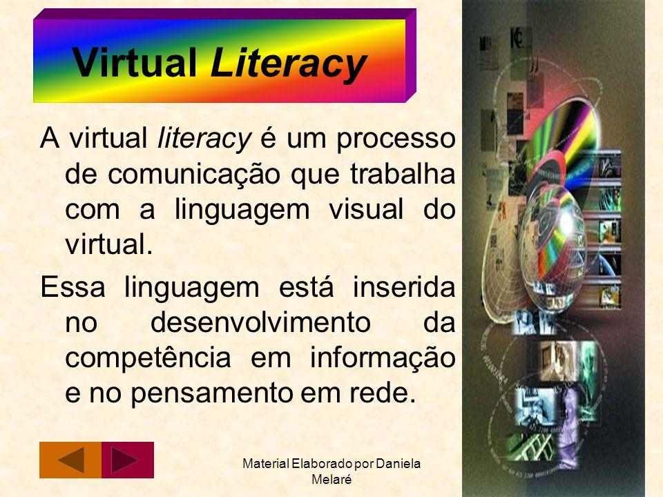 Material Elaborado por Daniela Melaré 11 Virtual Literacy A virtual literacy é um processo de comunicação que trabalha com a linguagem visual do virtu