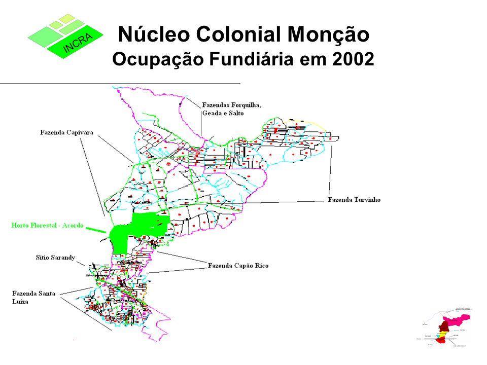 Núcleo Colonial Monção Ocupação Fundiária em 2002