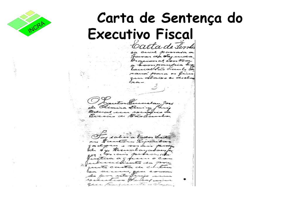 Carta de Sentença do Executivo Fiscal