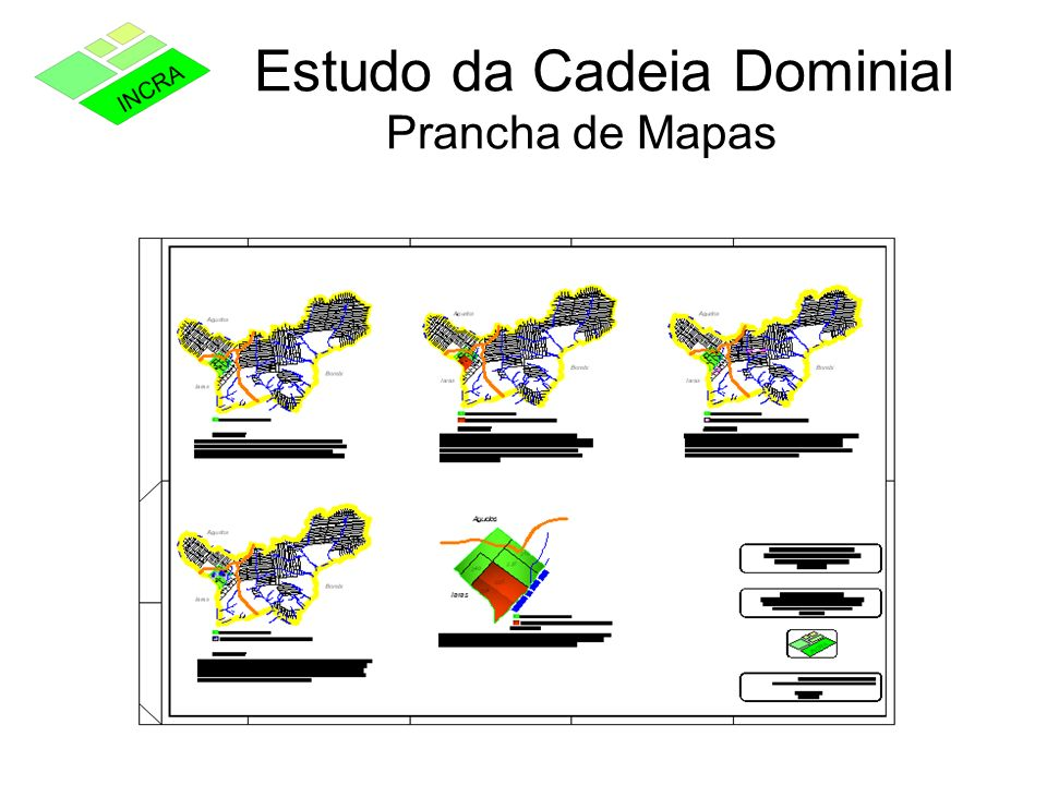 Estudo da Cadeia Dominial Prancha de Mapas